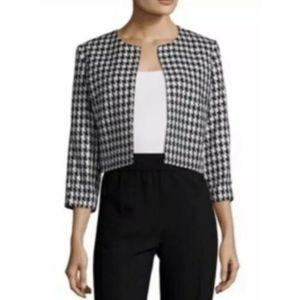 Karl Lagerfeld Houndstooth  Cropped Jacket